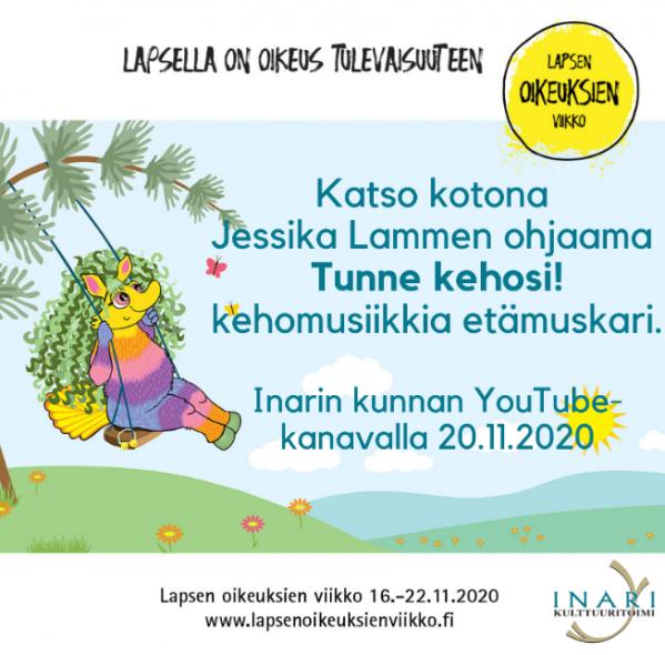 Tunne kehosi! etämuskari on katsottavissa ja kuunneltavissa kotikoneilta Inarin kunnan YouTube-kanavan kautta alkaen 20.11.2020