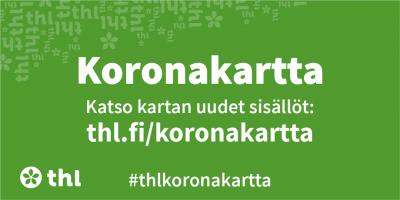 Koronakartta Suomessa todetuista koronatapauksista