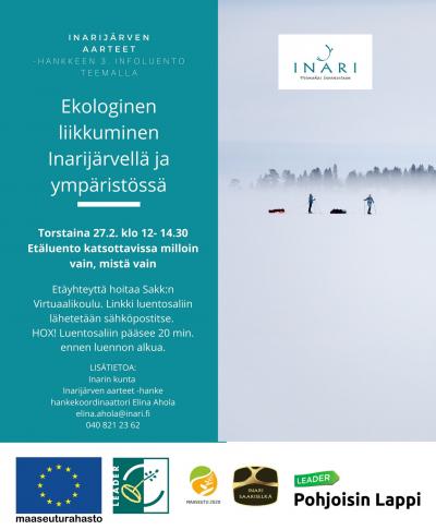 Kutsu Ekologinen liikkuminen Inarijärvellä ja ympäristössä -infoluennolle