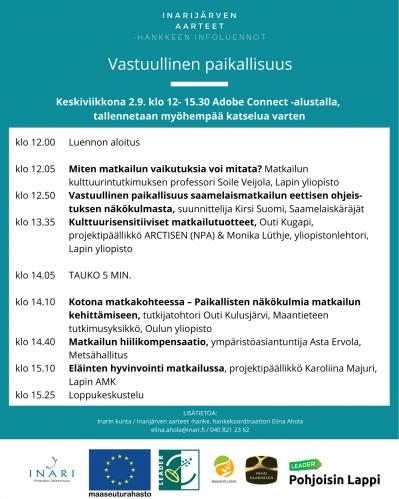 Vastuullinen paikallisuus -infoluennon ohjelma