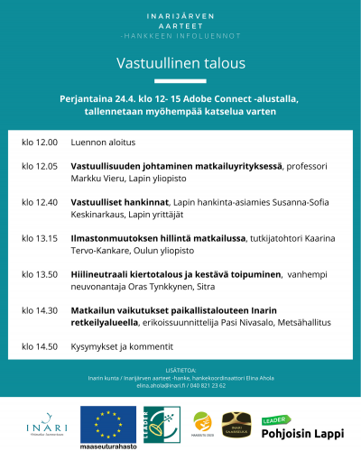 Vastuullinen talous -infoluennon ohjelma