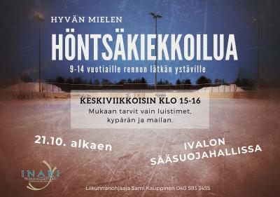 Kuva höntsäkiekkoilu mainoksesta.